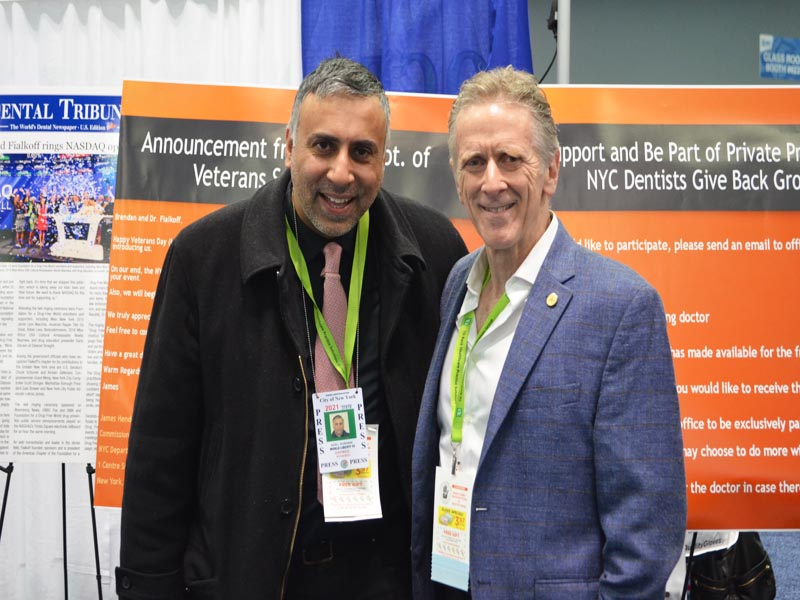 Dr Abbey with Dr Bernard Fialkoff of Bayside Dentist