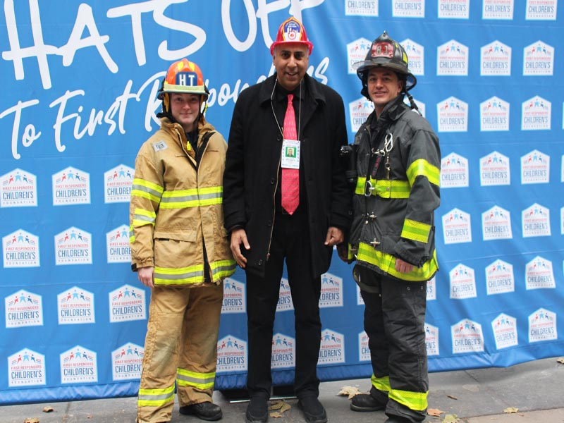 Dr Abbey with FDNY & EMT Members of NYC