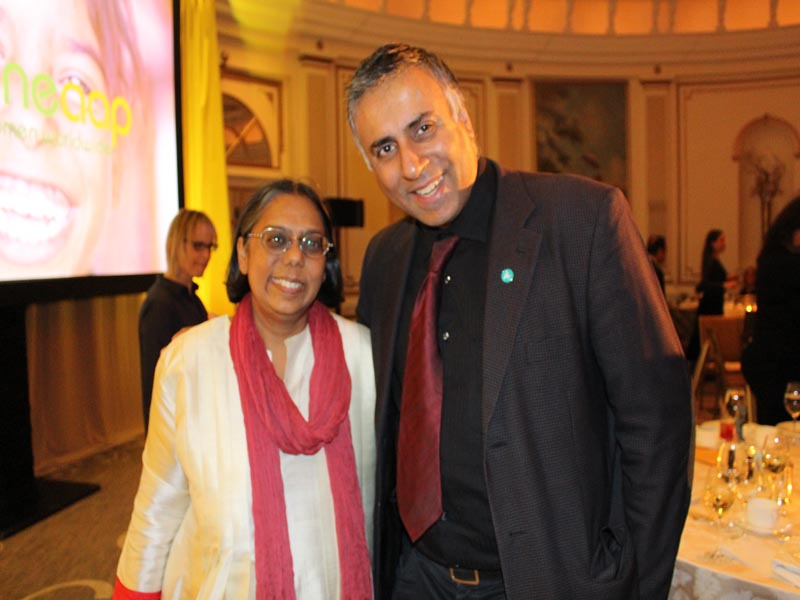 Dr Abbey with Ruchira Gupta Founder President Apne Aap International