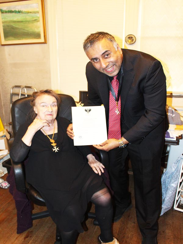 Dr Adal Being Knighted by Countess Nicholas Bobrinskoy