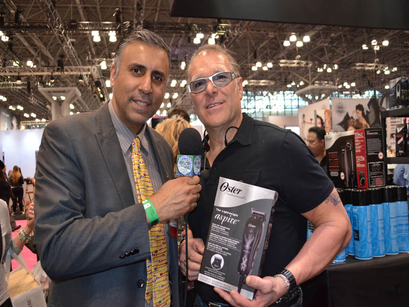 Dr.Abbey With David Guerin of Oster Professional