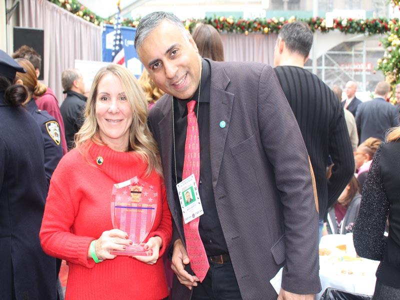Dr.Abbey with Alaine Alvarez Widow of Luis Alvarez