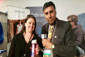 Dr.Abbey with Allison Hill of Lifestraw