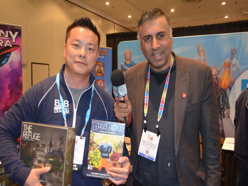 Dr.Abbey with Billy Lu Co-Founder B&B Games Studio