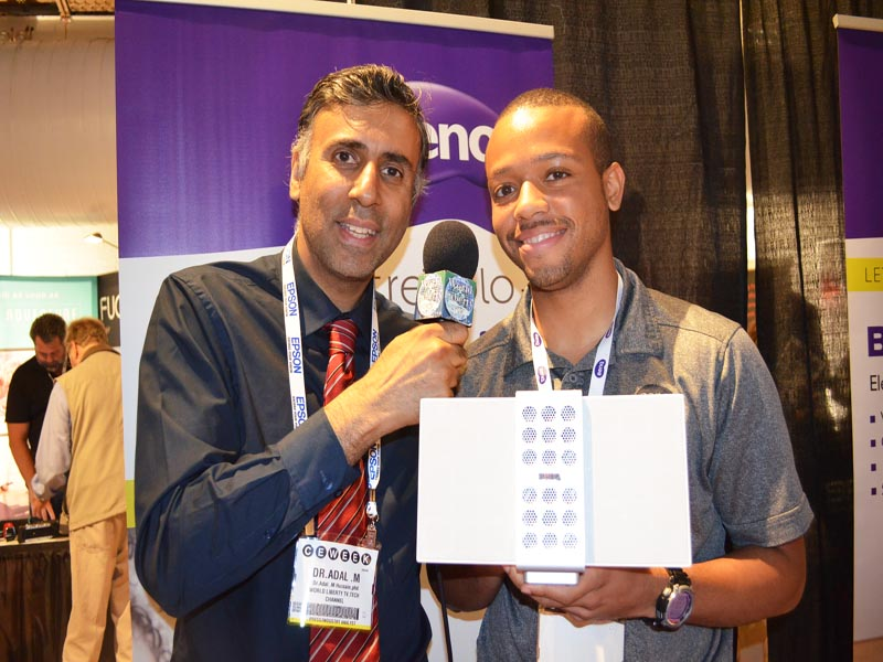 Dr.Abbey with Brian Alexander of BENQ America Corp