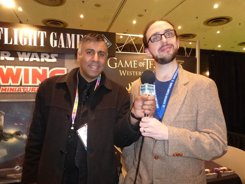 Dr.Abbey with Bryan Bornmueller of Fantasy Flight Games