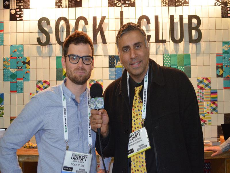 Dr.Abbey with Dane Jensen Founder Sock Club