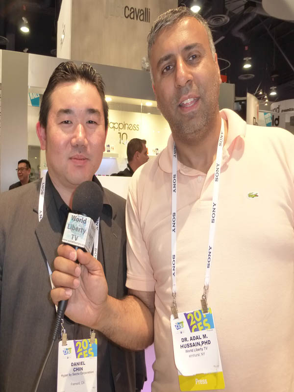 Dr.Abbey with Daniel Chin CEO Hyper of Sanho Corp