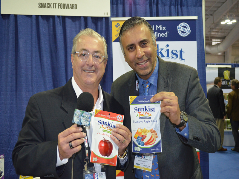 Dr.Abbey with David Alvarez VP of Snack it Forward for Sunkist