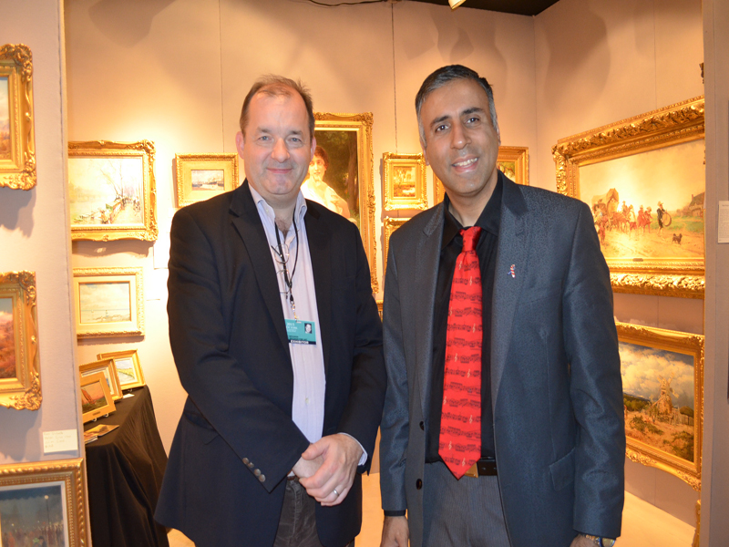Dr.Abbey with David Booker President of DB Fine Art