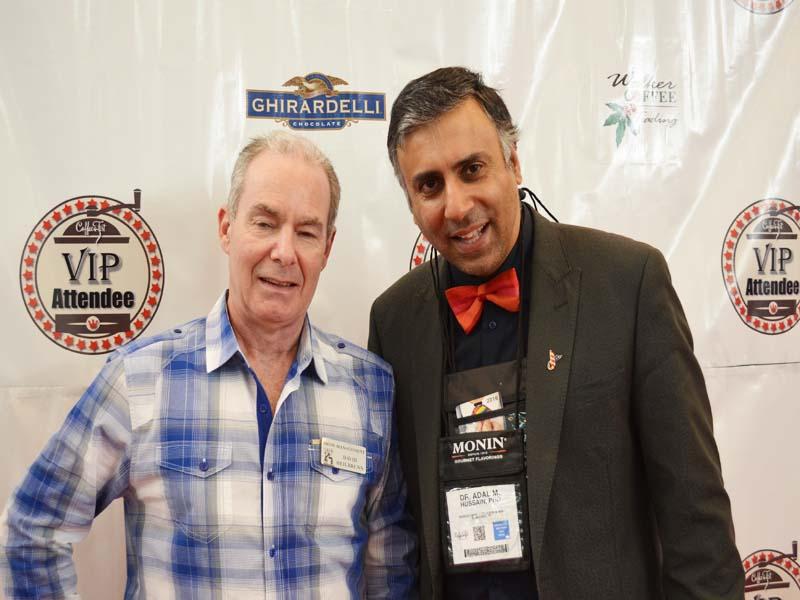 Dr.Abbey with David Heilbrunn President  CEO Coffee Fest