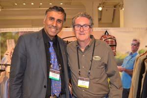 Dr.Abbey with David J.Bebon President D.BEBZ Apparel