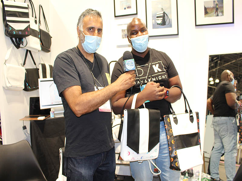 Dr.Abbey with Dayana Knight Founder Day & Knight Vegan Leather Bags