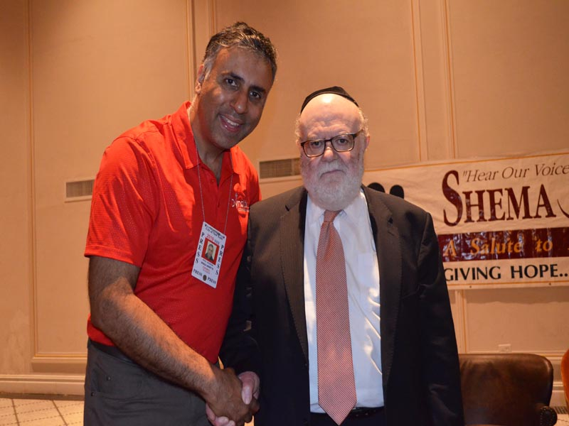 Dr.Abbey with Dr. Joshua Weinstein Founder & President of Shema Kolainu