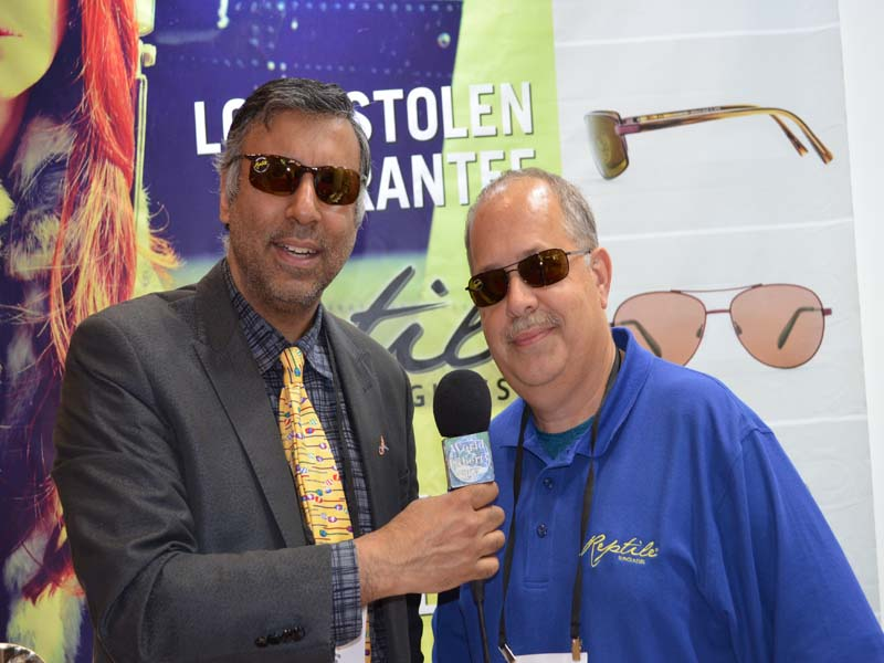 Dr.Abbey with Gary Adelman President  Reptile Sunglasses