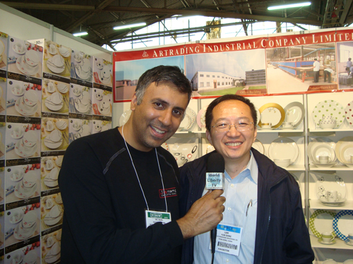 Dr.Abbey with Isaac Lam  President of Artrading Indust Co Ltd