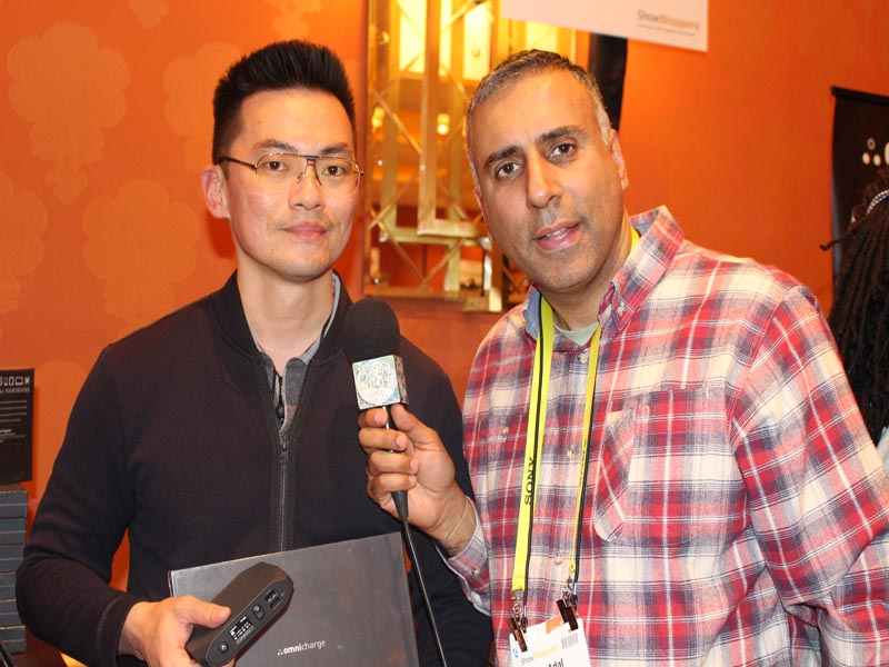 Dr.Abbey with Jason Wong CEO Omnicharge