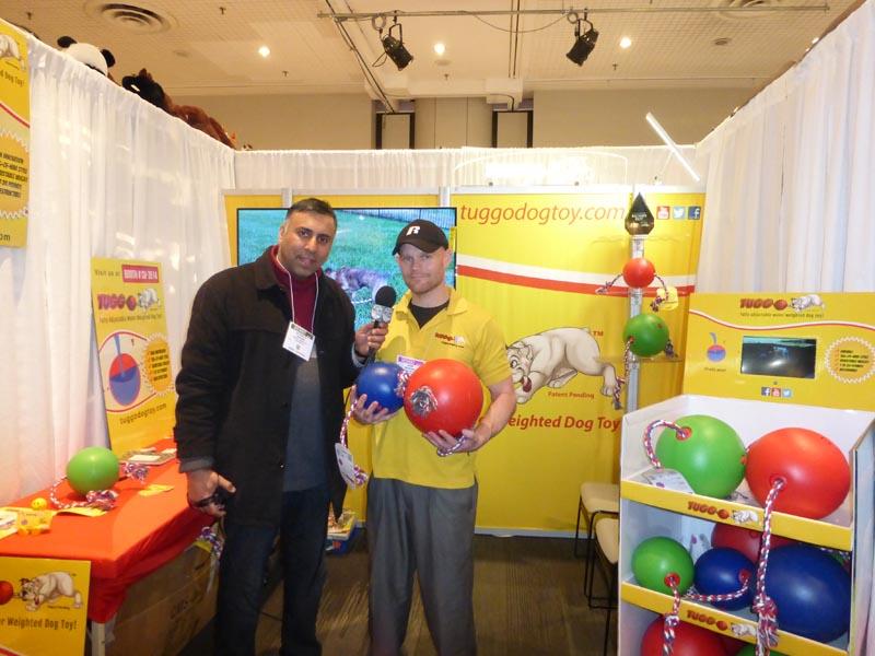 Dr.Abbey with Jason Woodard of Tuggo Dog Toys