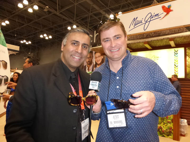 Dr.Abbey with Jay Black of Maui Jim
