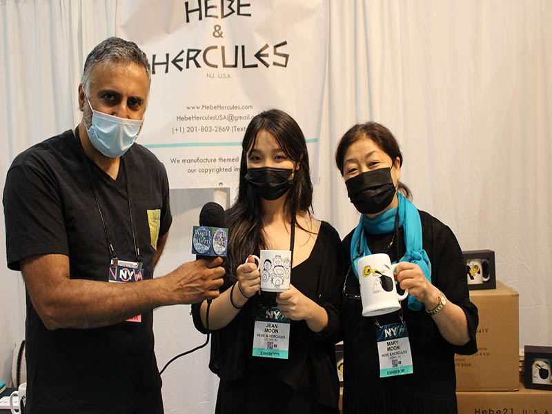 Dr.Abbey with Jean and Mary Moon of Hebe& Hercules Company