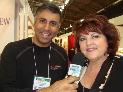 Dr.Abbey with Jennifer Colby Mktg Manager for GemOro Superior Instruments