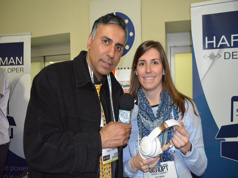 Dr.Abbey with Jessica Garvey of Harman Company