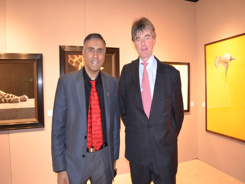 Dr.Abbey with Jonathan Cooper of Park Walk Gallery