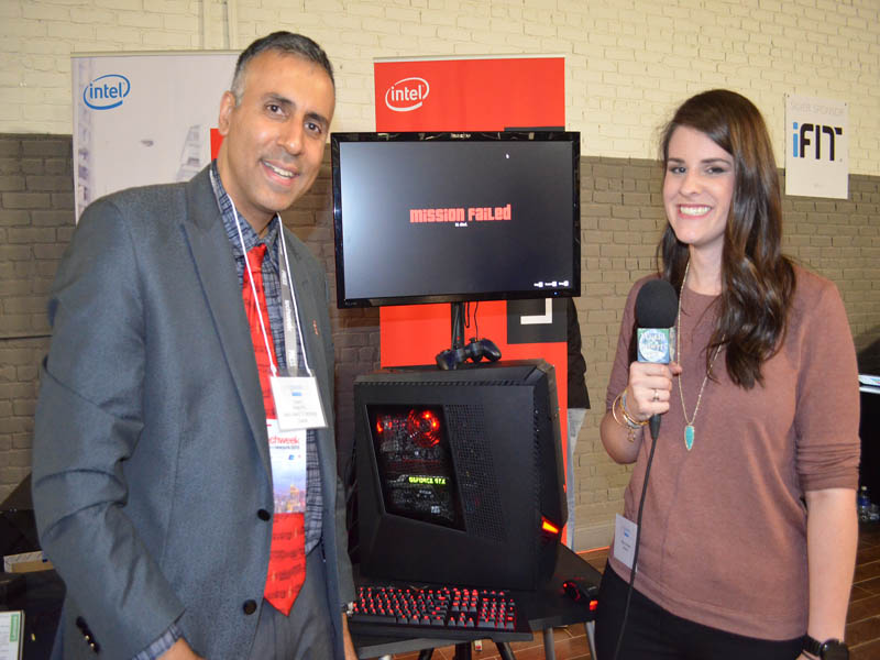Dr.Abbey with Kelly Corrigan of Lenovo