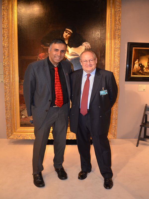 Dr.Abbey with Lawrence Steigrad of Old Master Paintings