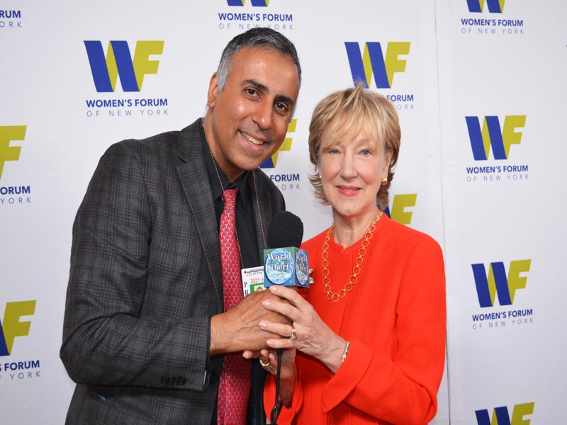 Dr.Abbey with Linda A. Willett President of Women's Forum of New York