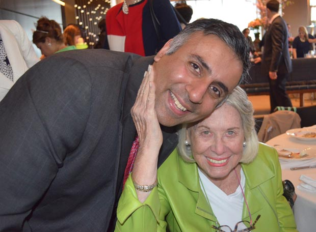 Dr.Abbey with Liz Smith American gossip columnist