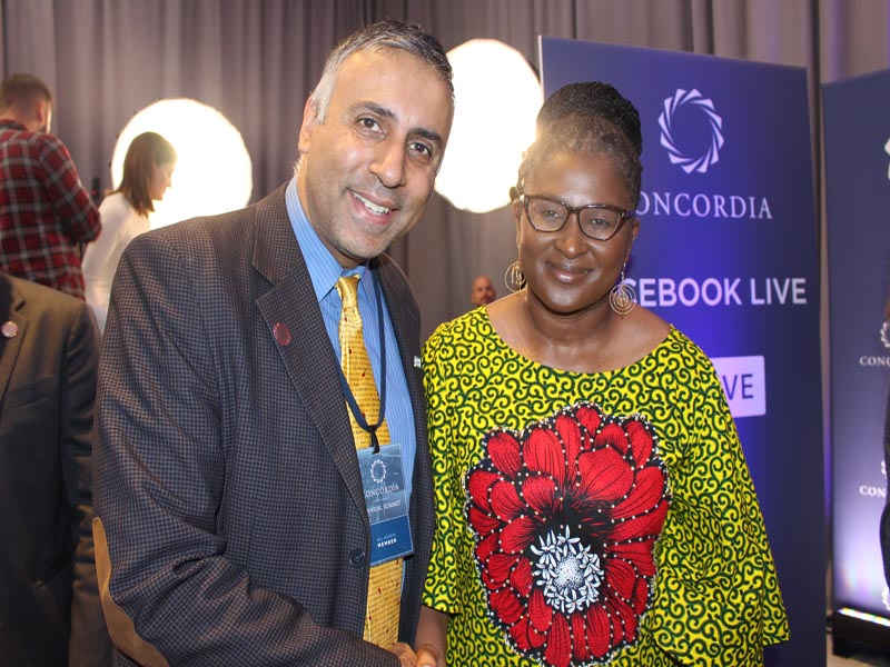 Dr.Abbey with Madame Monica Geingos, First Lady of the Republic of Namibia