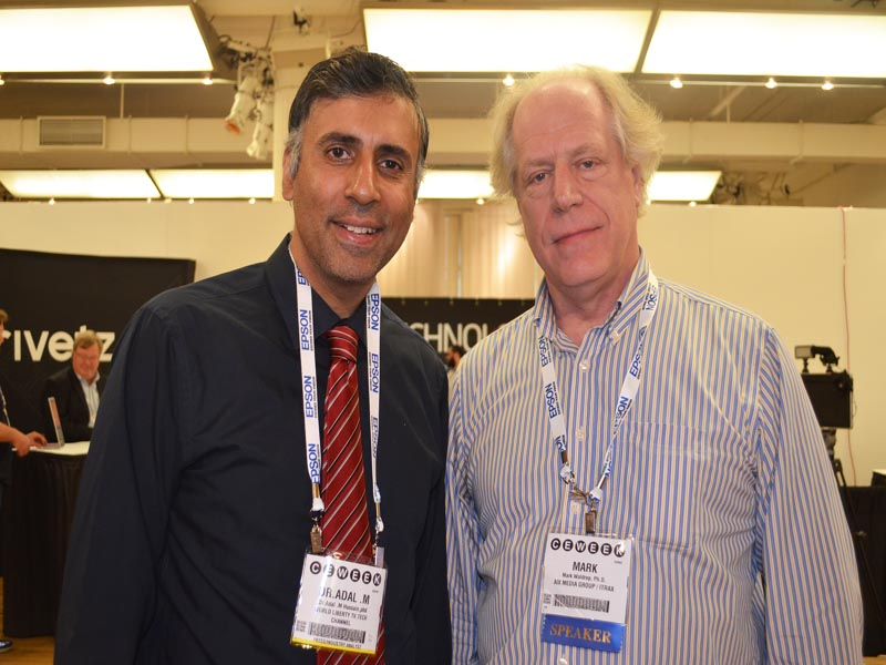 Dr.Abbey with Mark Waldrep Founder of AIX Records
