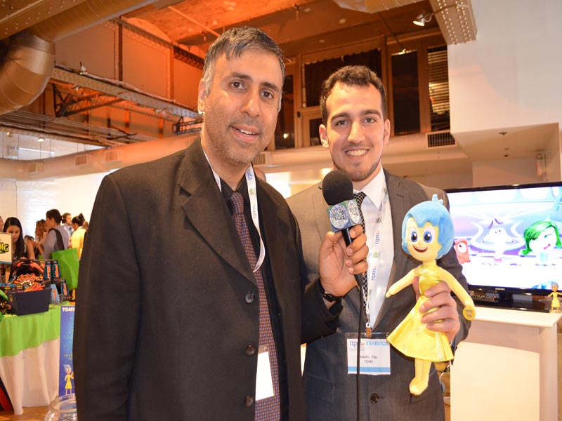Dr.Abbey with Martin Diaz of TOMY