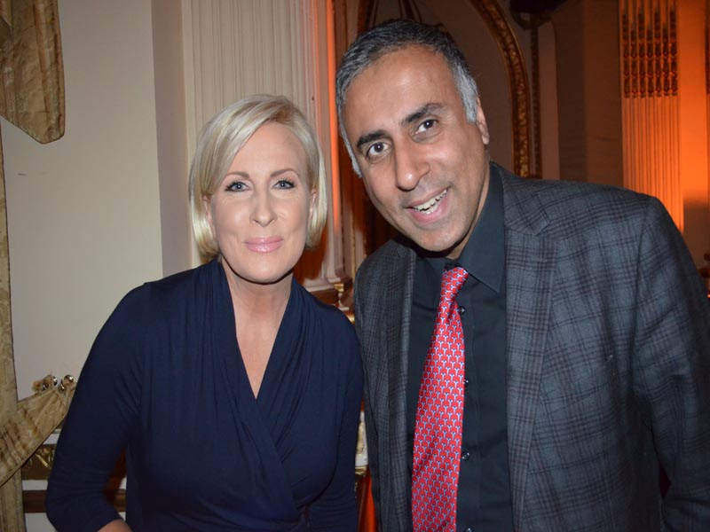 Dr.Abbey with Mika Brzezinski Co-host of MSNBC'S Morning Joe