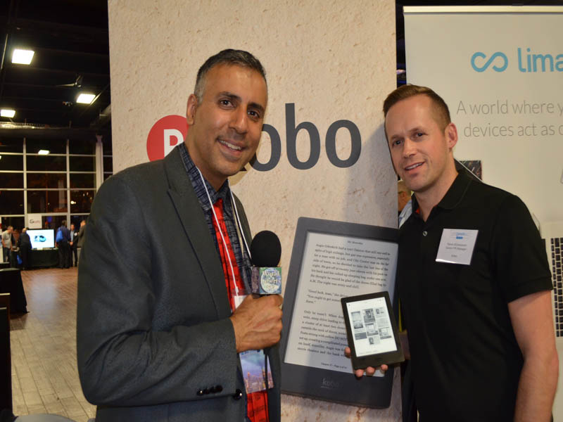 Dr.Abbey with Rene d Entremont  PR Manager for Kobo