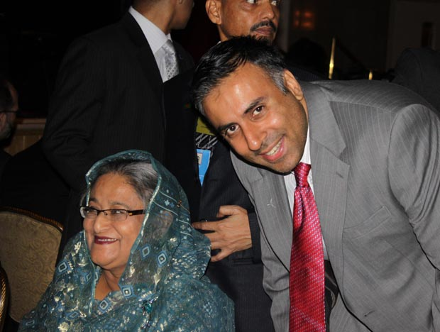 Dr.Abbey with SHEIKH HASINA, Prime Minister of Bangladesh