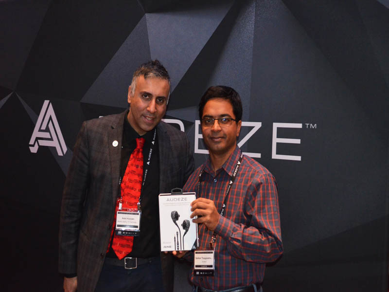 Dr.Abbey with Sankar Thiagasamudram Co-Founder & CEO Audeze
