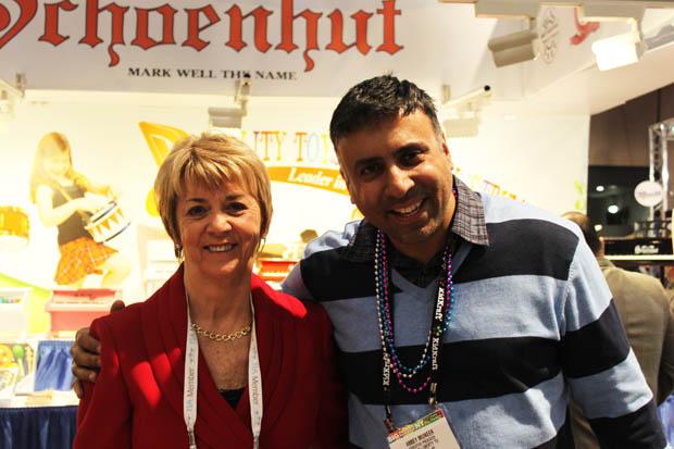 Dr.Abbey with Schoenhut's Owner, Renee  Trinca