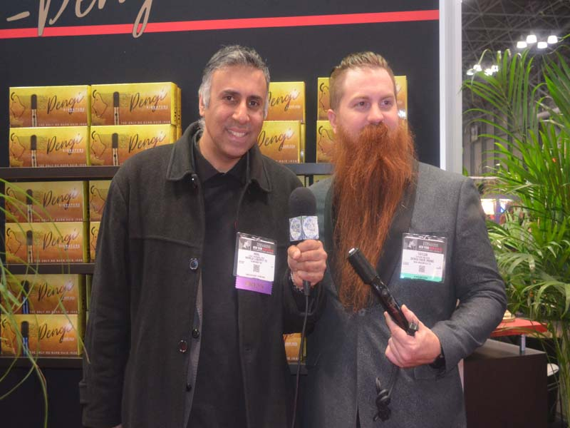 Dr.Abbey with Taylor Welden US Beard Champion & rep for DENGI Global
