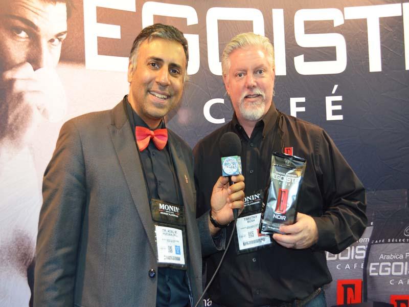 Dr.Abbey with Timothy Bush of EGOISTE Cafe