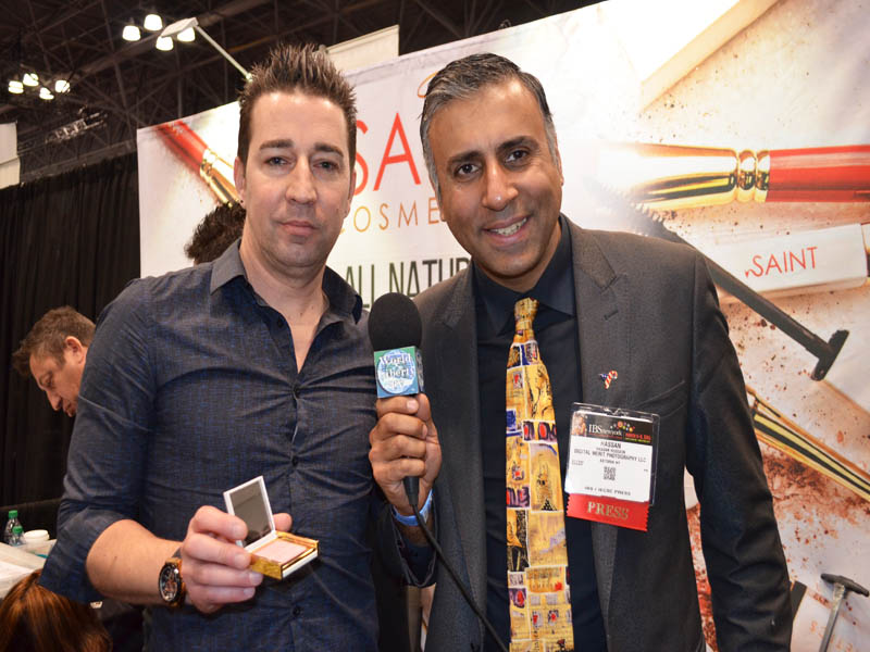 Dr.Abbey with Todd Stewart of Saint Cosmetics