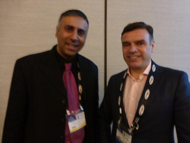 Dr.Abbey with Tony Reynolds President Reynolds Co