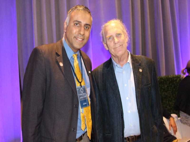 Dr.Abbey with Trammell S Crow Founder of Earth X
