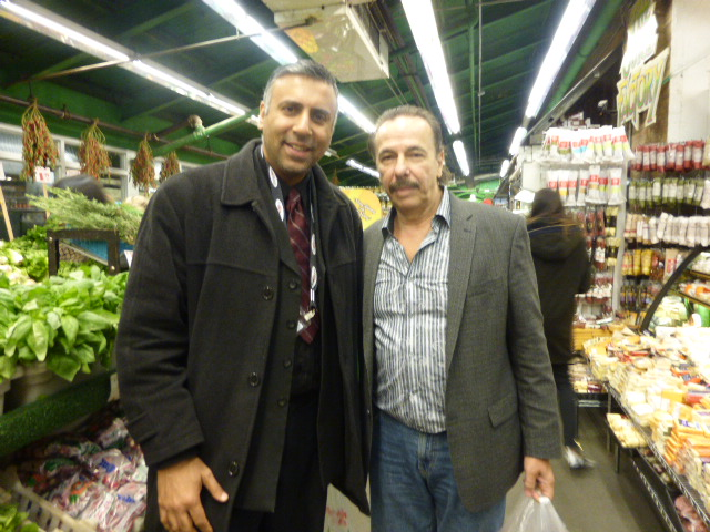 Dr.Abbey with Vito of Manhattan Fruit Exchange