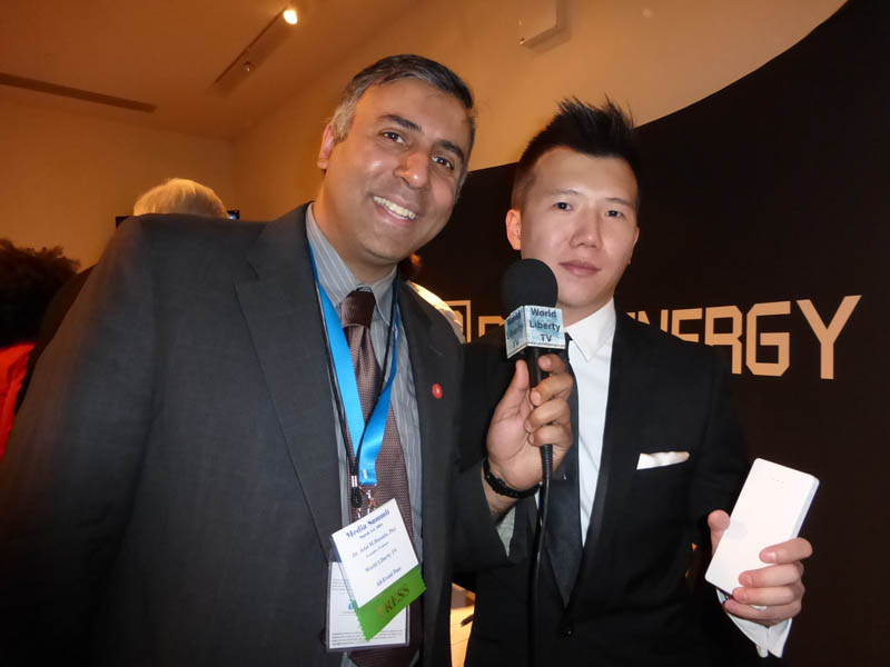 Dr.Abbey with William Lam Founder Dark Energy