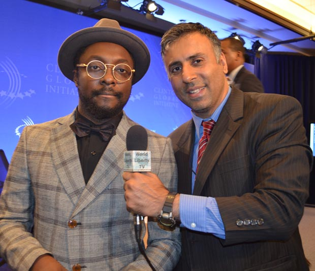 Dr.Abbey with William of  i.am.angel Foundation