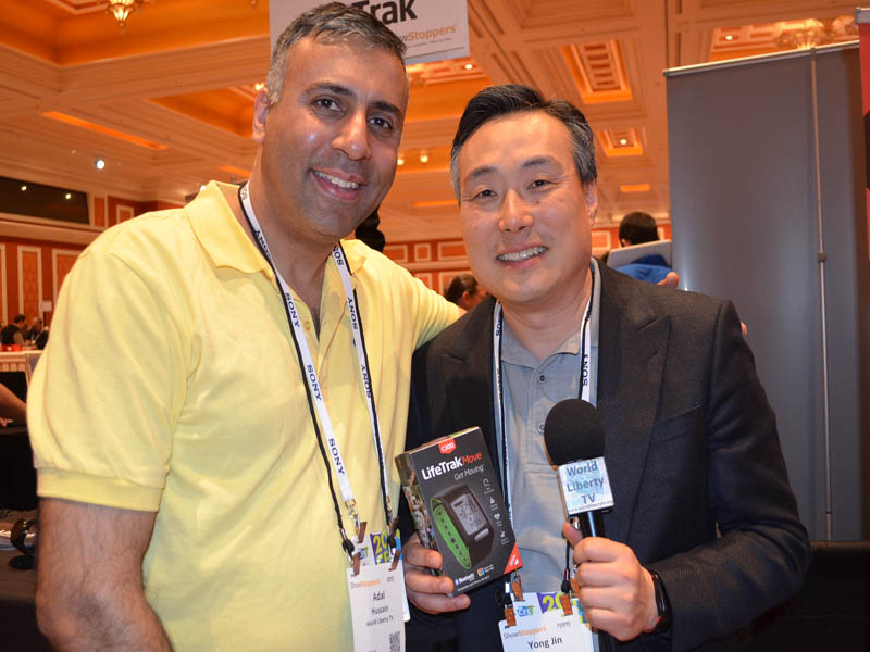 Dr.Abbey with Yong Jin of LifeTrak watch