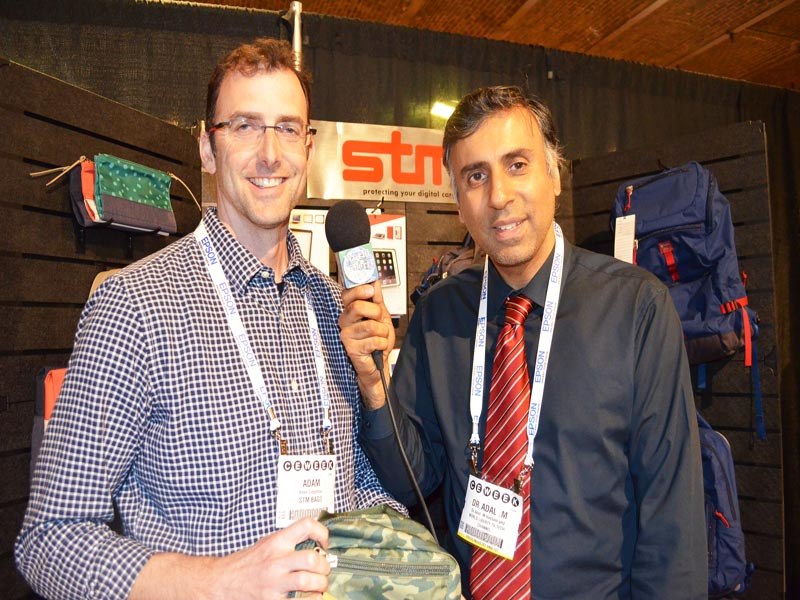 Dr.Abbey with adam Ziegleman of STM Bags