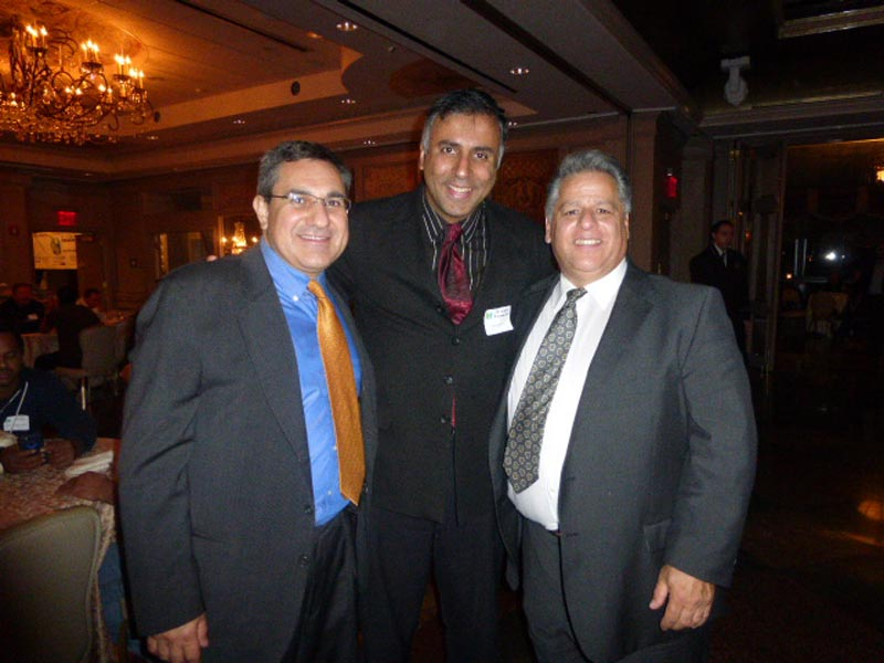 L-R Dr.Abbey with  Michael Loise of MPC & Louis Rizzo of NG